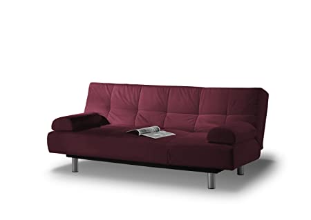 Westport Home Julia Convertible Sofa with Burgandy Cover