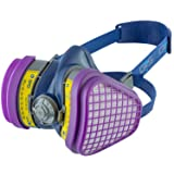 GVS SPR473 Elipse OV/AG-P100 Dust and Organic/Acid Gas Vapour Half Mask Respirator with Replaceable and Reusable Filters Included (Tamaño: M/L Size)