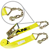 Vulcan Classic Ratchet Strap with Chain Anchors - 5,400 lbs. Safe Working Load (4'' x 30') (Tamaño: 4