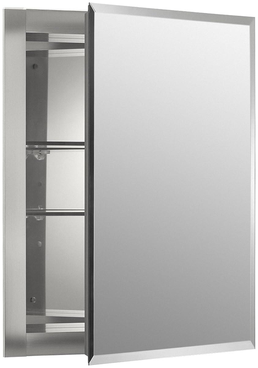 KOHLER K-CB-CLR1620FS Single Door 16-Inch W by 20-Inch H by 5-Inch D Aluminum Cabinet