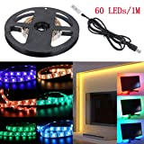 WOWLED 1 Meter RGB LED Light Strip  USB Cable and Controller 5V for Christmas Home Decoration TV PC Home Theater Backlighting
