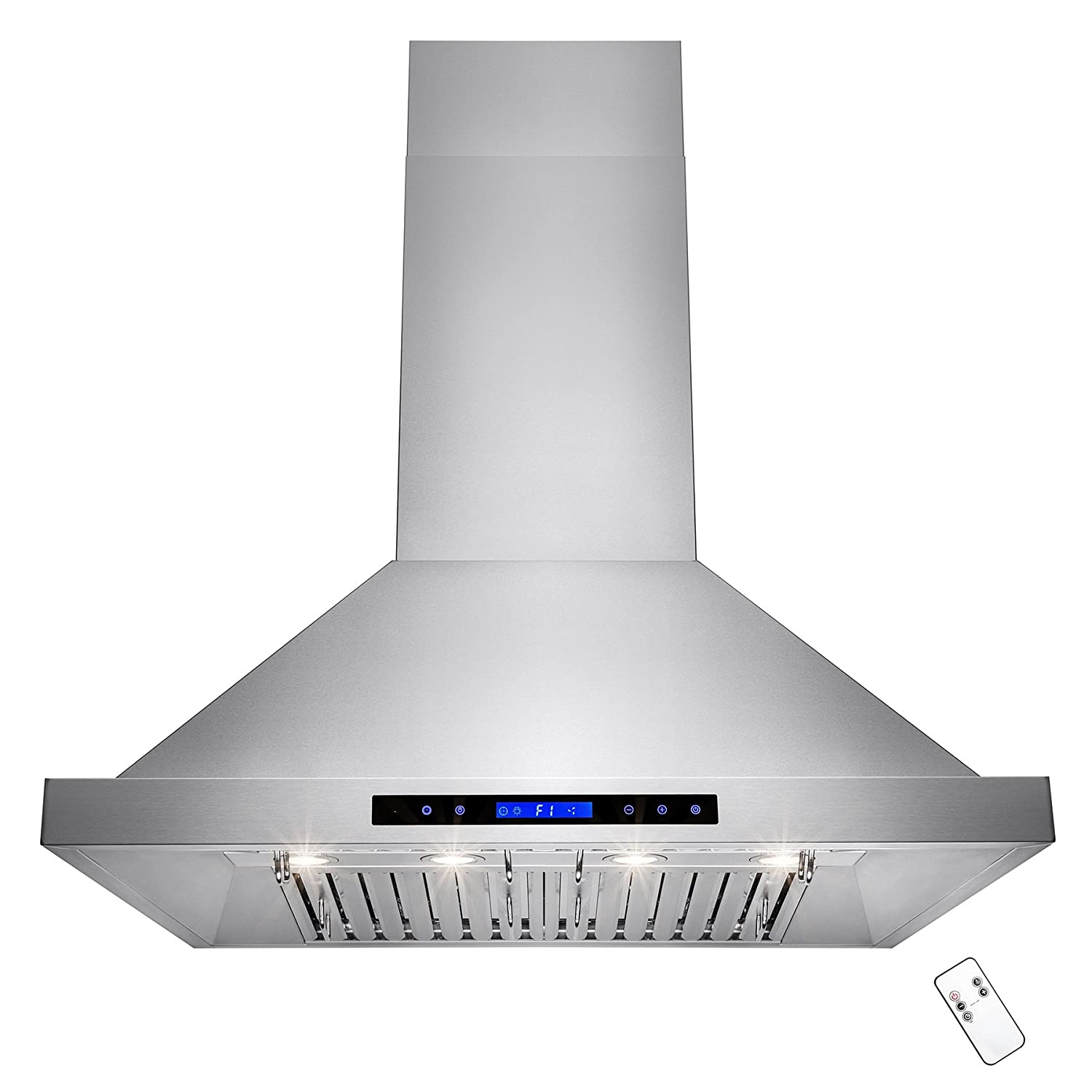 AKDY® 36'' Wall Mount Stainless Steel 760 CFM Touch Control Halogen Light Lamp Kitchen Vent Cooking Fan Range Hood (RH0156)