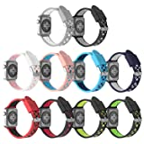 Rockvee Compatible for Apple Watch 38mm 42mm Women Men, Breathable Silicone Replacement Band for Iwatch Nike+, Series 3, Series 2, Series 1 (10-Pack, 42mm) (Color: 10-Pack, Tamaño: 42mm)