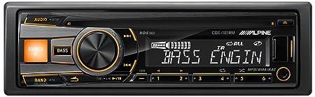 Alpine CDE-181RM Autoradio CD/DVD 1 x USB Noir, Jaune