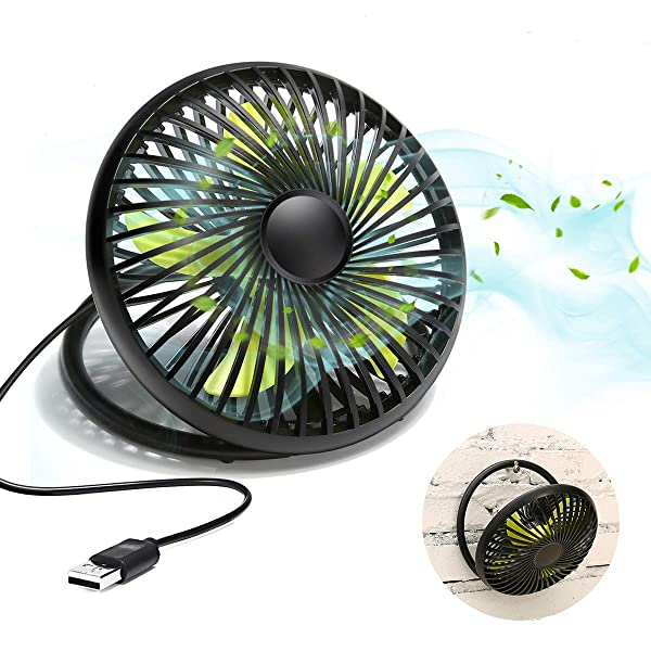 MED Rechargeable Portable Handheld Mini USB fan with Upgrade 2600mAh Battery,with Side Light Personal Cooling for Traveling,Boating,Baby Stroller,Fishing,Camping 3 Speeds