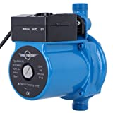 BOKYWOX 120W 110V Automatic Booster Pump NPT3/4'' Domestic Hot Water Circulator Pump 120W,For Solar Heater Circulating System Shower&Tap (RS15/9B) (Color: automatic blue)