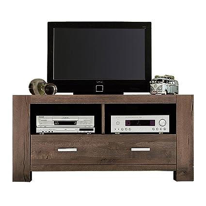 TV-Board Lowboard Braxton Massivholz Holz Eiche verwittert antik Breite 133 cm Tiefe 47 cm Höhe 64 cm