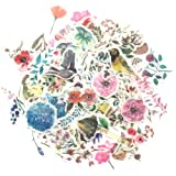 1000Art Nature Stickers Set(120 PCS) Watercolor Flowers Plant Stickers for Scrapbooking,Planners,Journals,Card Making,DIY Arts and Crafts (Color: Watercolor Flower Plant Sticker Pack)