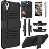 HTC Desire 626s Case, HTC Desire 626 Case, Elegant Choise Heavy Duty Hybrid  Dual Layer Armor Holster Case with Kickstand and Belt Swivel Clip for HTC