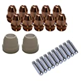 Lotos LCS22 Plasma Cutter Consumables Sets for Brown Color LT5000D and Brown Color CT520D (22 Pieces) (Tamaño: 22 Pieces)