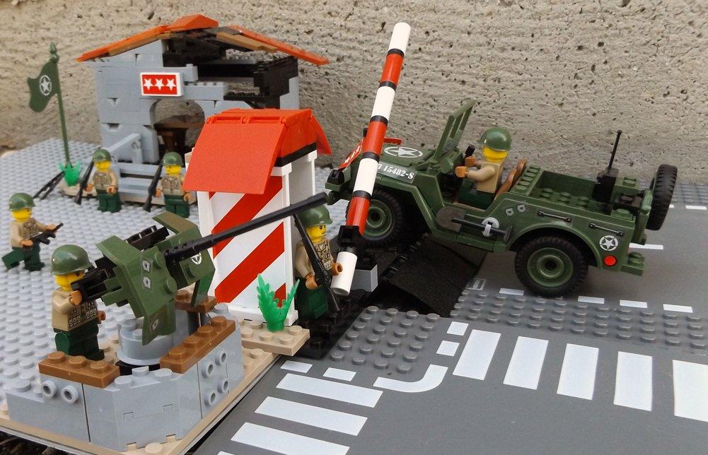 Modbrix 24310 – ★ US ARMY Hauptquartier Bausteine Set ink. Jeep & custom US MARINES Soldaten aus original Lego© Teilen ★ als Weihnachtsgeschenk