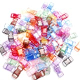 50 Pack Assorted Clear Colorful 3/8