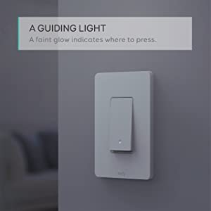 eufy Smart Light Switch By Anker, Amazon Alexa & Google Assistant Compatible, Wi-Fi, Control from Everywhere, No Hub Required, Easy Installation, Single Pole, Requires Neutral Wire, 100~120V AC, 15A (Color: White)