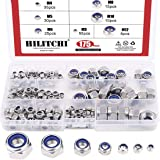 Hilitchi 175-Piece Stainless Steel Nylon Lock Nut Assortment Kit, Size Include: M3 M4 M5 M6 M8 M10 M12 (Lock Nuts)