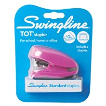 Swingline Tot Stapler with Built-in Staple Remover, Pre-packed with 1000 Swingline Standard Staples, Assorted Colors (S7079141)