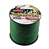 Ashconfish Braided Fishing Line-8 Strands Super Strong Fishing Wire 500M/546Yards 30LB-Abrasion Resistant Braided Lines-Incredible Superline-Zero Stretch-Superfine Diameter-Moss Green (Color: Moss Green, Tamaño: 30LB/0.26MM)