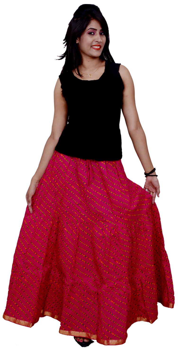 Decot Paradise Women's Cotton Skirt (SKT218_Free Size_Pink)