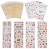 Planner Stickers Value Pack (Assorted 1877 PCS, 44 Sheets) - Decorative Sticker Collection for Scrapbooking, Calendars, Arts, Kids DIY Crafts, Album, Bullet Journals by Knaid (Color: Classic Sticker Pack, Tamaño: 3.5W x 7.0L)