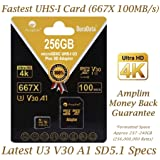 Lossless Format UHS-1 A1 Class 10 Certified 98MB//s Professional Ultra SanDisk 16GB Verified for HTC X MicroSDHC Card with Custom Hi-Speed Includes Standard SD Adapter.