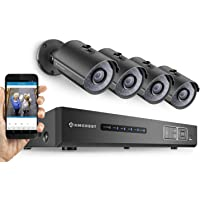 Amcrest 720P HD Tribrid HDCVI 4CH 1TB DVR Video Security System with 4 x 1MP Bullet Cameras