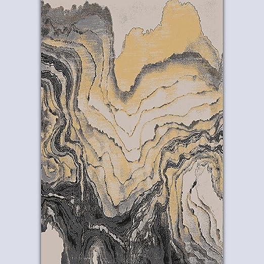 Lying Mesa de centro moderno simple Sala de estar Dormitorio Estudio Sofá Proceso de la pintura de tinta Mash hasta Arte Sofá más grueso Alfombra Alfombra encontrar ( Color : #2 , Tamaño : 120*170CM )