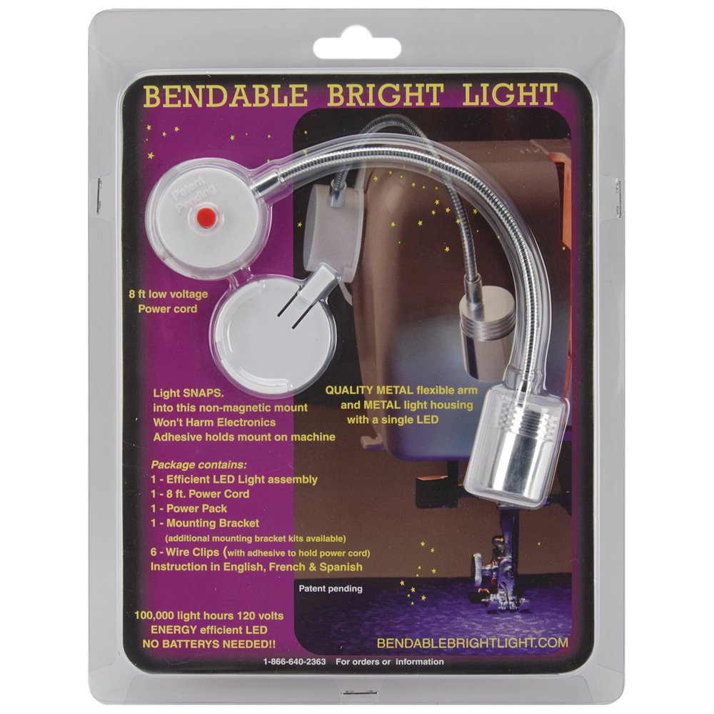 bendable light for sewing machine