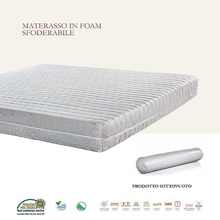 Stones Seven Materasso, Foam, Bianco, 120 x 190 x 20 cm