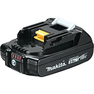 Makita BL1820BDC1 Compact Lithium-Ion Battery and Charger Starter Pack, 18V (Color: Black, Tamaño: 2.0 Ah)