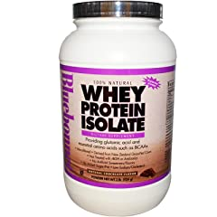 Bluebonnet Nutrition 100% Natural Whey Protein Isolate Powder Chocolate Flavor