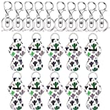 Yarachel Chapstick Holder Keychains with Metal Clip Cords Suitable for Chapstick Tracker and Safeguard (10 Pieces, Cactus) (Color: Cactus, Tamaño: 10 Pieces)