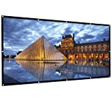 Outdoor Projector Screen, HUKOER 100 Inch 16:9 Portable Projector Screen Foldable Anti-Crease Thick Indoor Outdoor Home 4K HD Movie Screen Support Front Rear Projection (Tamaño: 100 inch)