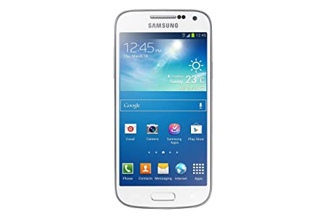 Samsung Galaxy S4 Mini Duos GT-i9192 Blanc - Smartphone 3G+ avec écran tactile Super AMOLED 4.3`` sous Android 4.2
