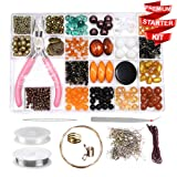 Modda Jewelry Making Kit- DIY Beading Arts and Crafts Kits for Teen Girls, Beginners, Adults - Includes Supplies, Beads, Charms, Instructions for Bracelets, Necklaces, Earrings Making - Bronze Kit (Color: Bronze)
