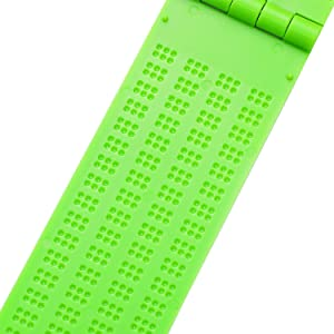 4 Lines 28 Cells Braille Slate Braille Writing Slate Plastic Braille Slate Kit, Green (2)