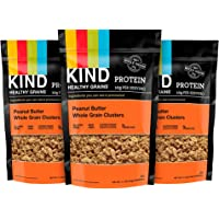 3-Pack KIND Healthy Grains Granola Clusters (Peanut Butter Whole Grain, 11 Ounce Bags)
