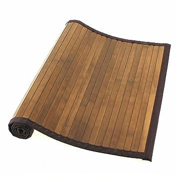 tendance tapis tapis bambou naturel fonce taille 50 50 x 80 cm cuisine maison z337. Black Bedroom Furniture Sets. Home Design Ideas