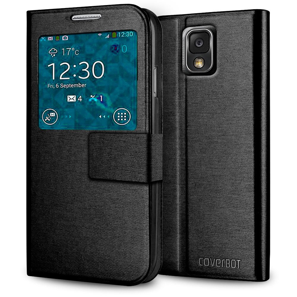 CoverBot Samsung Galaxy Note 3 S-View Flip Cover - Black