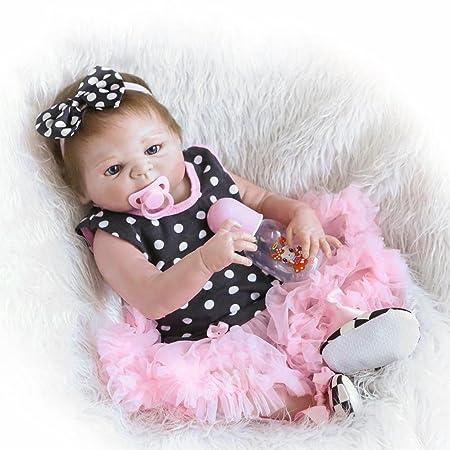 23 pouces Rare Alive Silicone Vinyl Full Body Washable Sweet Princess Printemps Nouveau née bébé Fille Poupées