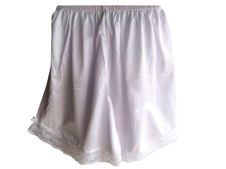 Damen Nylon Halb Slips weiß PPNAWH White Half Slips Women Lingerie