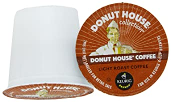 Donut House Light Roast Coffee, K-Cup Portion Pack for Keurig K-Cup Brewers