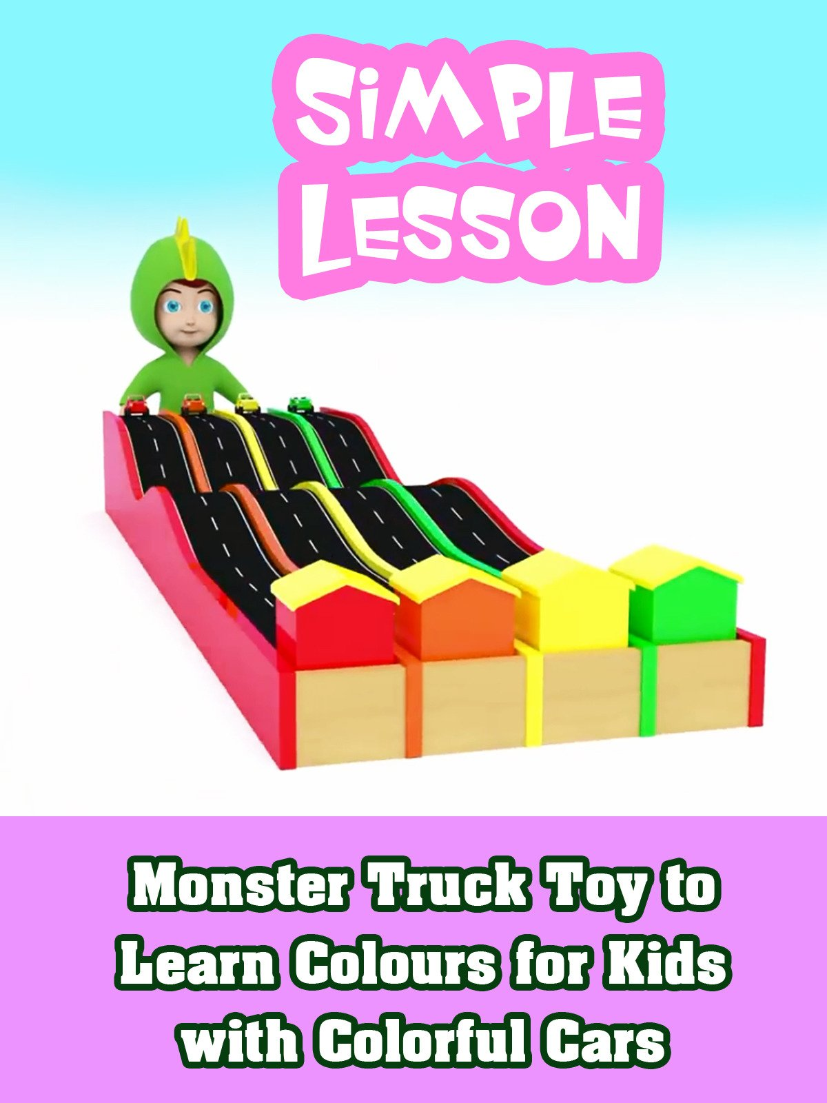 Monster Truck Toy to Learn Colours for Kids with Colorful Cars