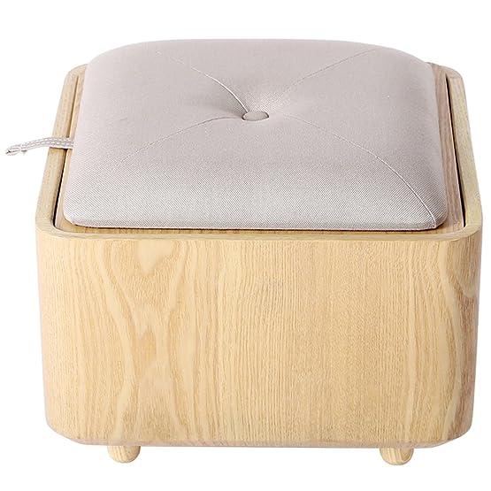 Semplice stoccaggio Sgabello Creativo di stoccaggio sgabello multifunzionale semplice giocattolo bagagli sgabello può scegliere di modificare la scarpa sgabello di legno solido Divano Sgabello (colore facoltativo) (40 * 40 * 33 centimetri) Pu&ograv