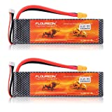 FLOUREON 2Packs 3S 11.1V 5500mAh 35C Lipo Battery Pack with XT60 Plug for RC Quadcopter Airplane Helicopter Car Truck Boat Hobby (XT60 Plug) (Tamaño: XT60 plug)