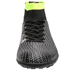 caa58c1f3d8 Aleader Boy s Athletic Turf Indoor Soccer Shoes Football Boots Black 2 M US  Little Kid