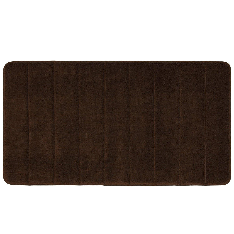 "Qutain Linen Large Brown Memory Foam Bath Bathroom Mat Super Soft 36"" Long at Sears.com"