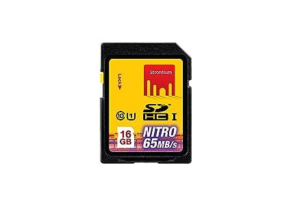 Strontium Nitro UHS-I 16GB SD Memory Card (SRP16GSDU1) at amazon