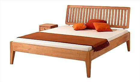 MS-Schuon Varia de ropa de cama con cabecero de madera de haya de madera maciza de 4, con acabado al aceite, madera, 160 x 200 cm