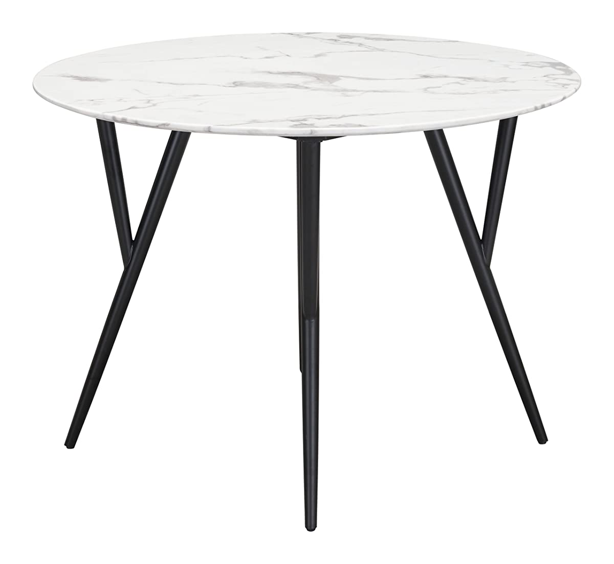 Zuo Dining Table Marcus, Faux Marble & Matte Black