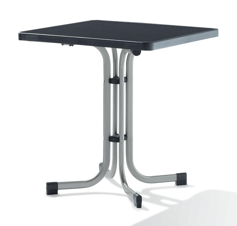 Sieger 231/A Boulevard-Klapptisch mit mecalit-Pro-Platte 70 x 70 cm, Stahlrohrgestell graphit, Tischplatte Schieferdekor anthrazit jetzt bestellen