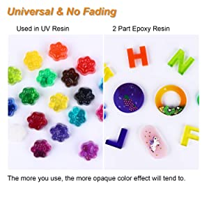 18 Colors Epoxy & UV Resin Pigment, LET'S RESIN Universal Resin Dye, Super Concentrated Translucent Epoxy Pigment for Resin Colorant, Resin Crafts DIY